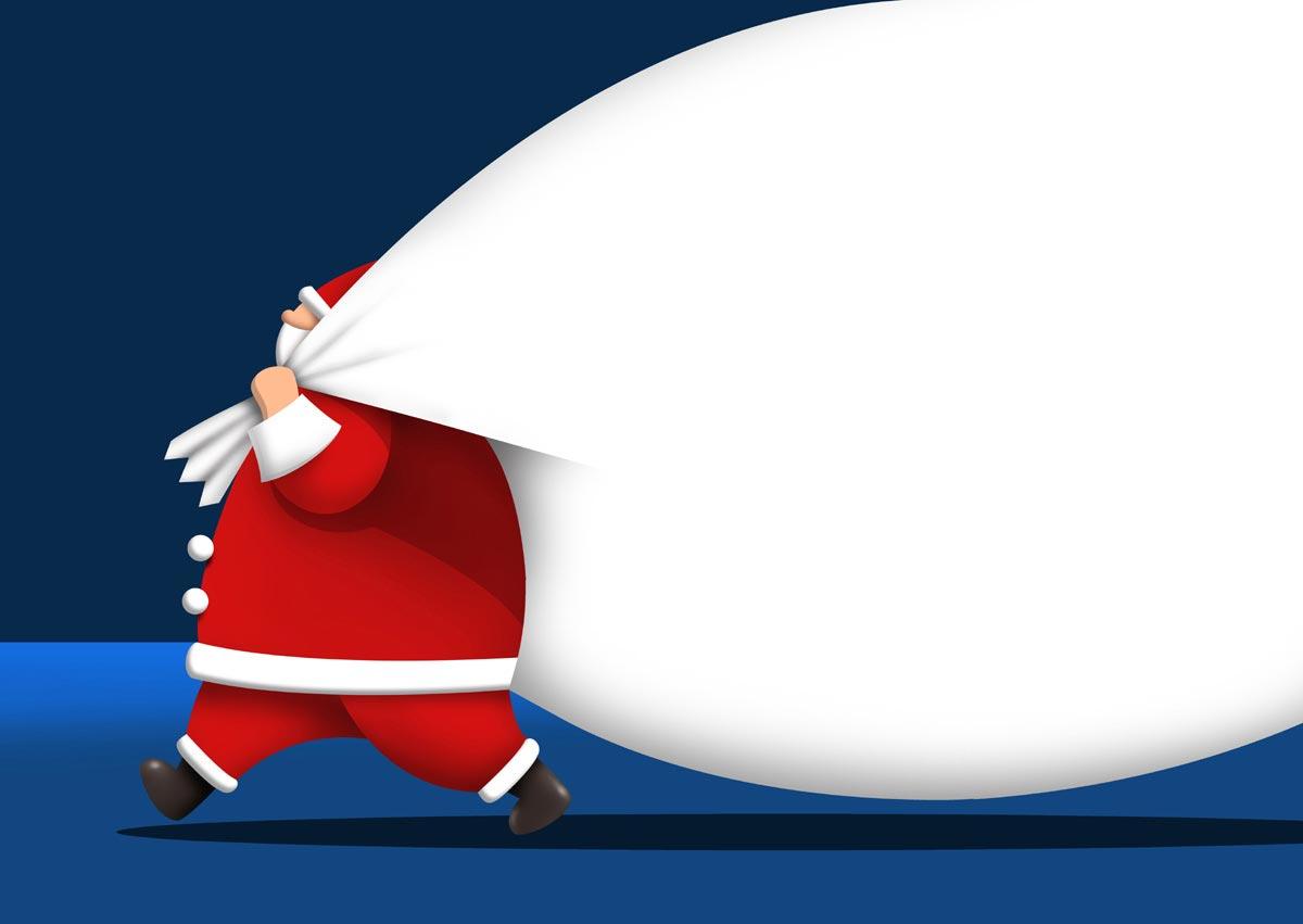 Sfondi Natalizi Originali.Sfondo Babbo Natale Con Sacco Sfondo Desktop Natalizio