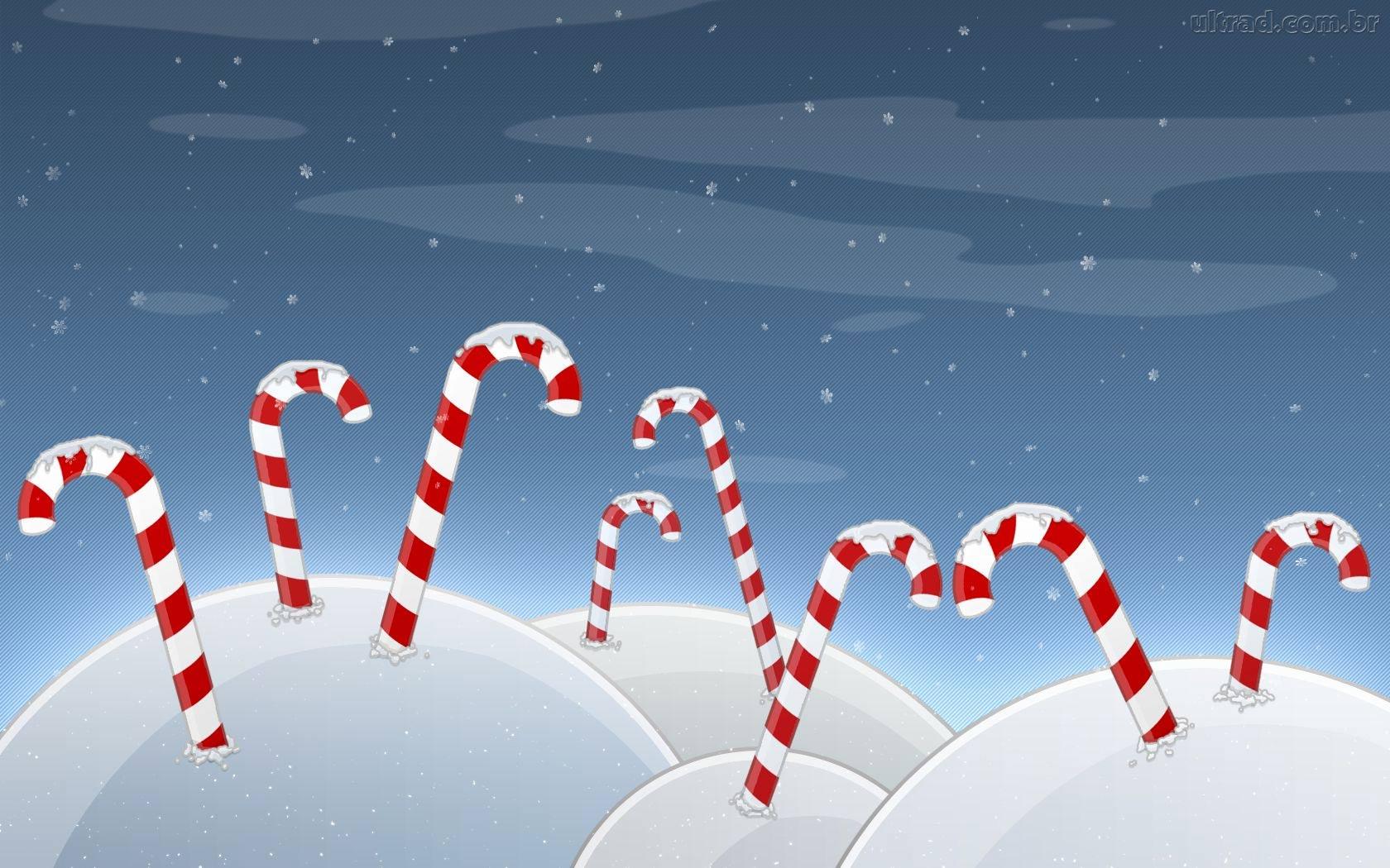 Sfondo Natalizio - Bastoncini di Natale