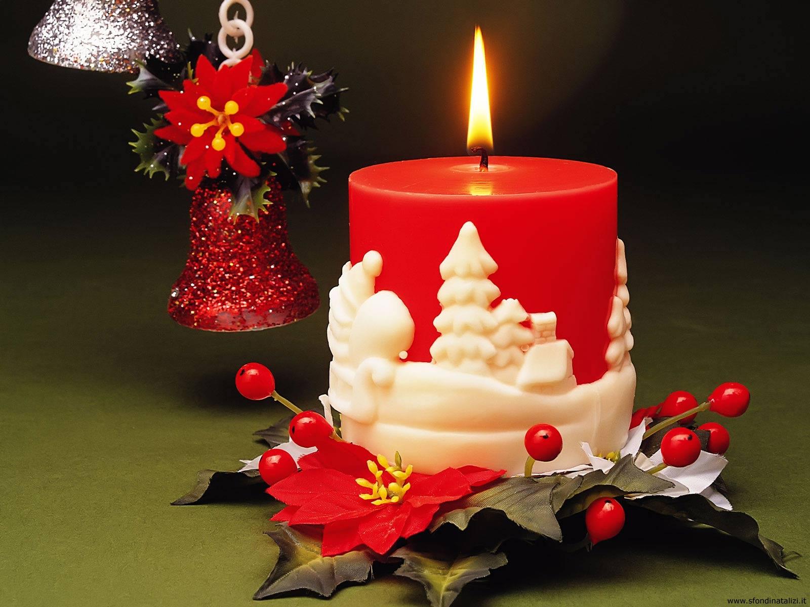 Sfondo Natalizio - Sfondi Desktop Candela Natale