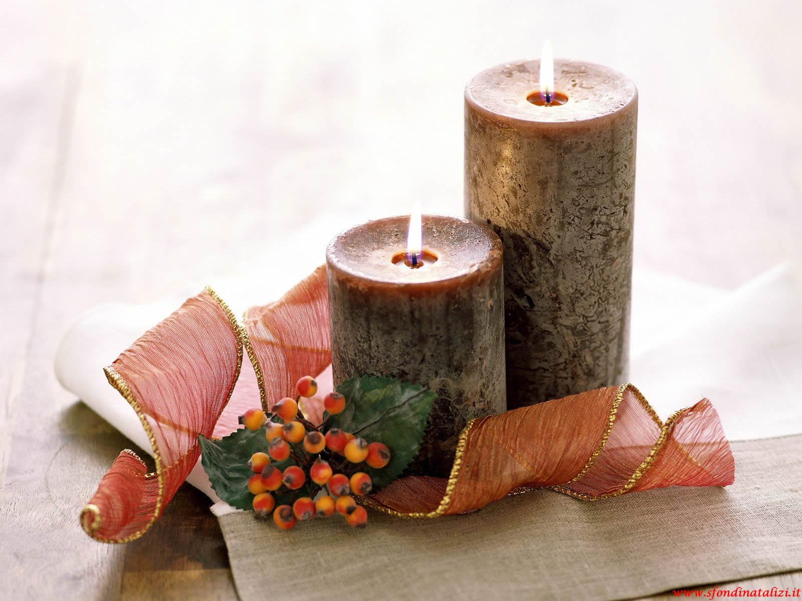 Sfondo Natalizio - Sfondo di Natale candele