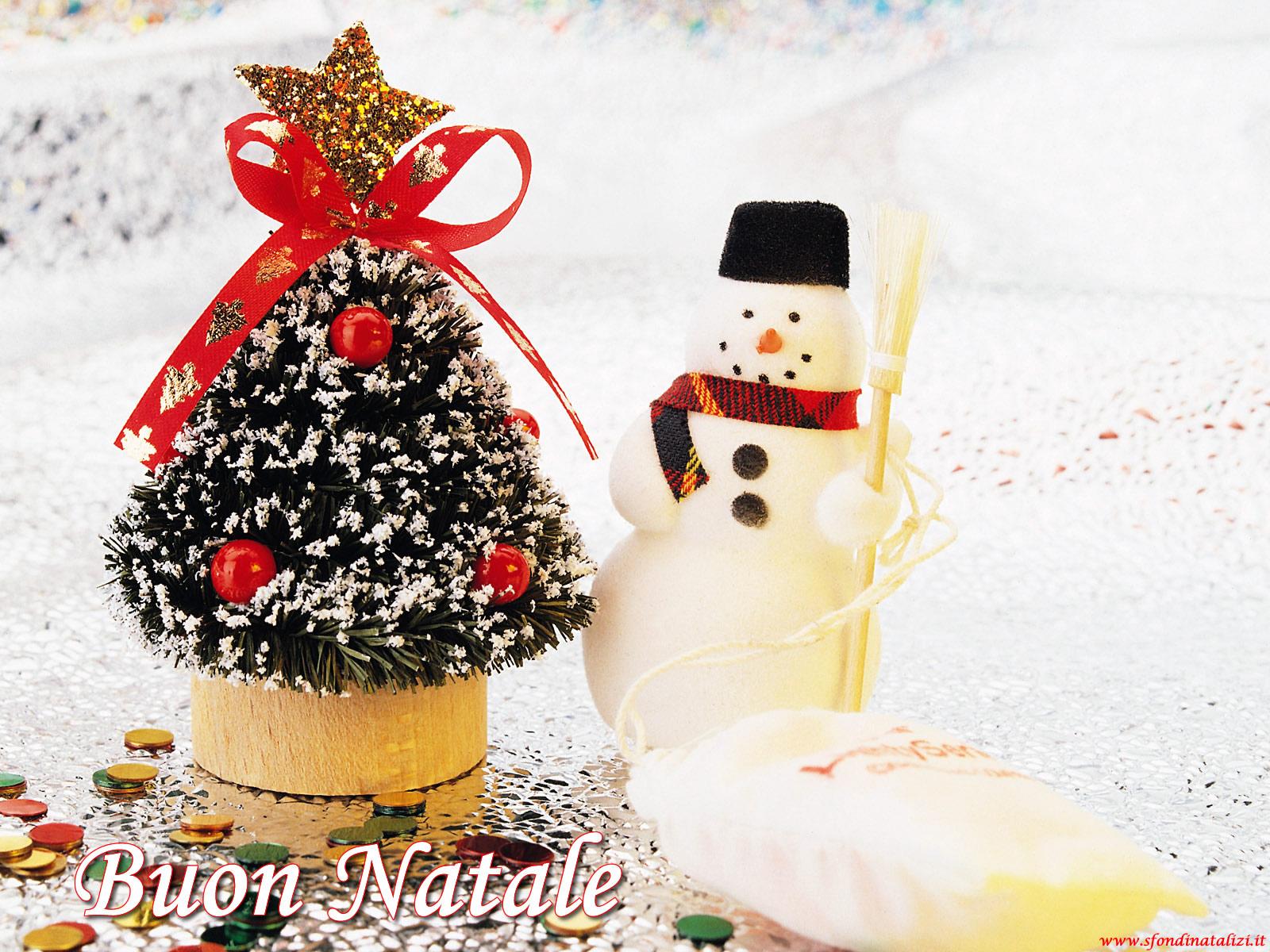 Sfondo Natalizio - Sfondo di Natale Pupazzo di Neve