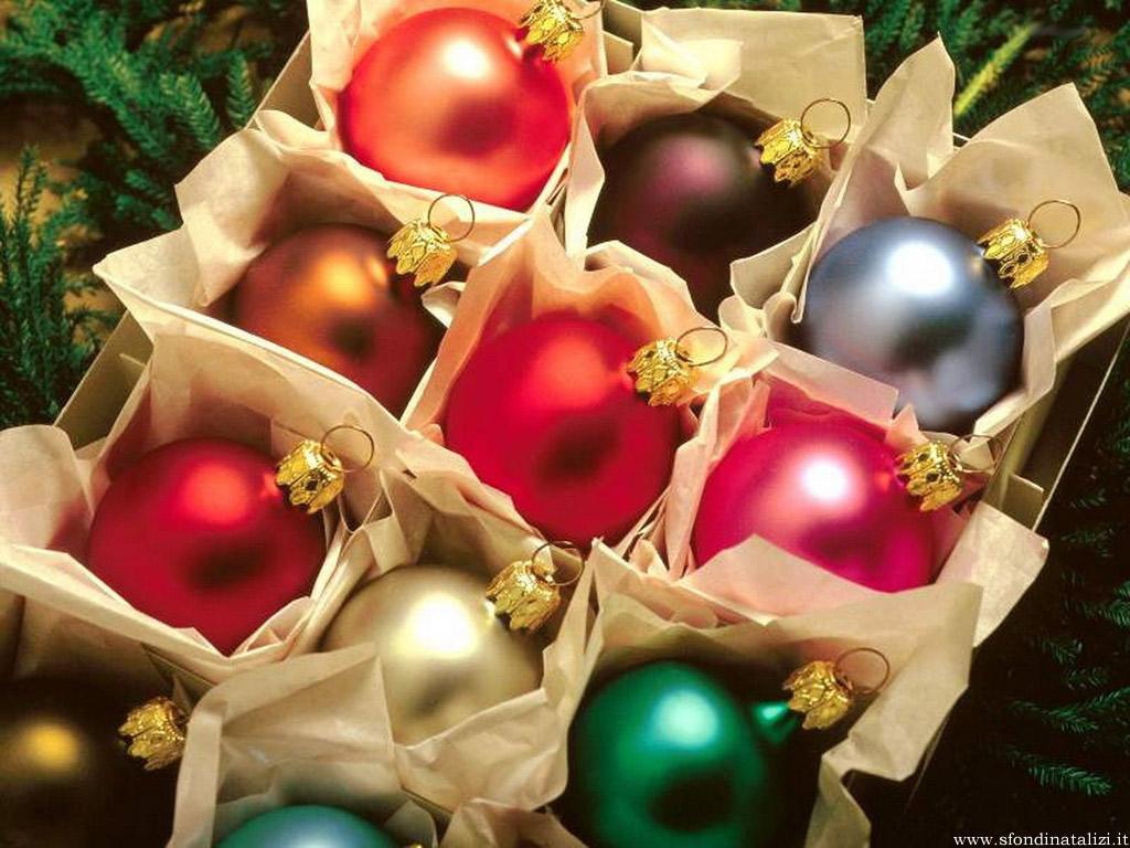 Sfondo Natalizio - Sfondo Palline di Natale
