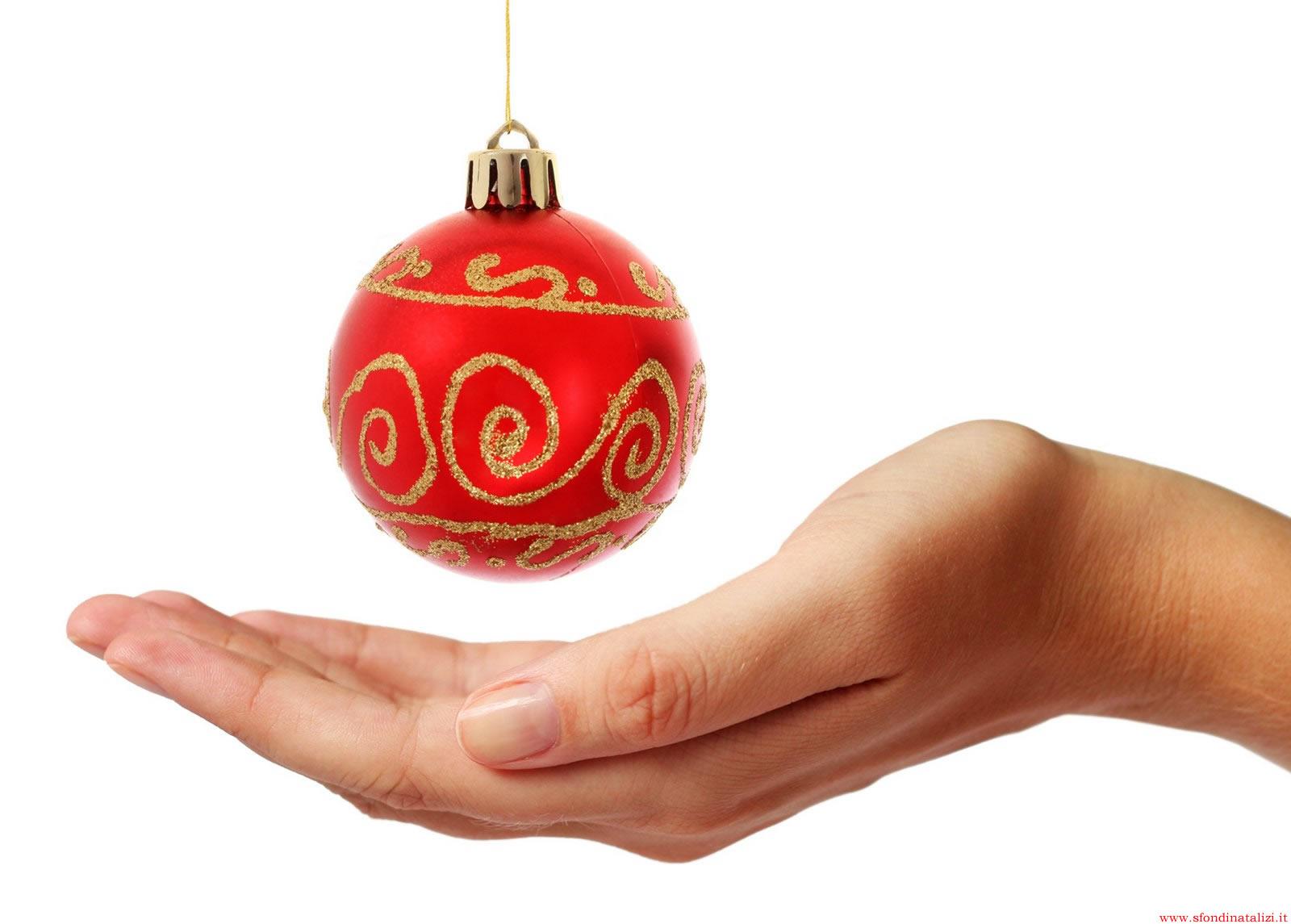 Sfondo Natalizio - Sfondo natalizio Pallina