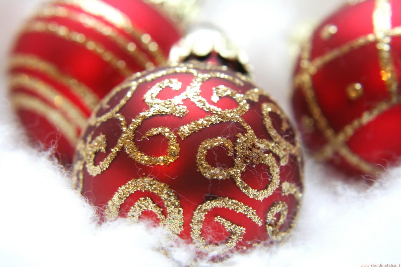 Sfondo Natalizio - Palline di Natale rosse