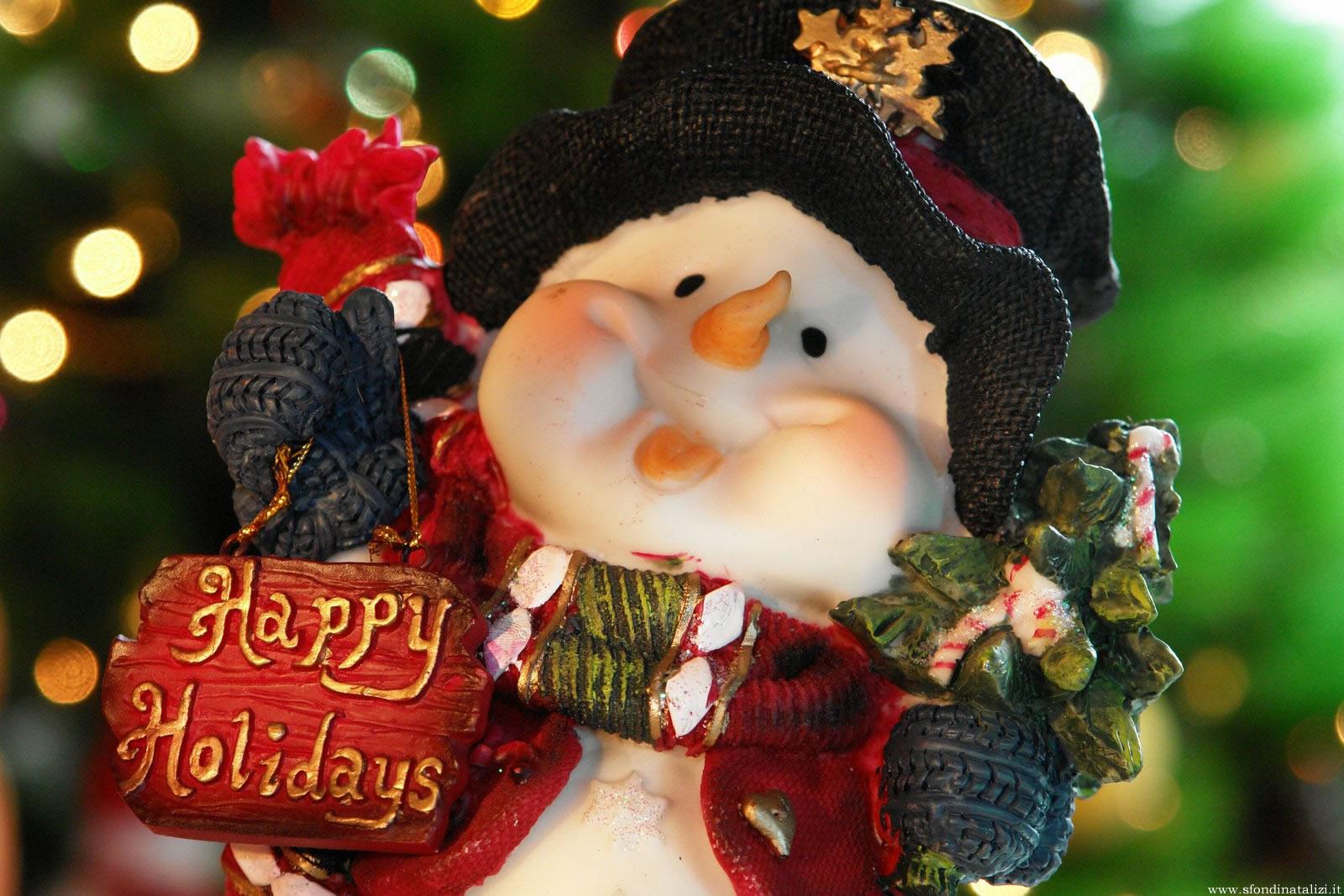 Sfondo Natalizio - Sfondo natalizio Pupazzo di neve