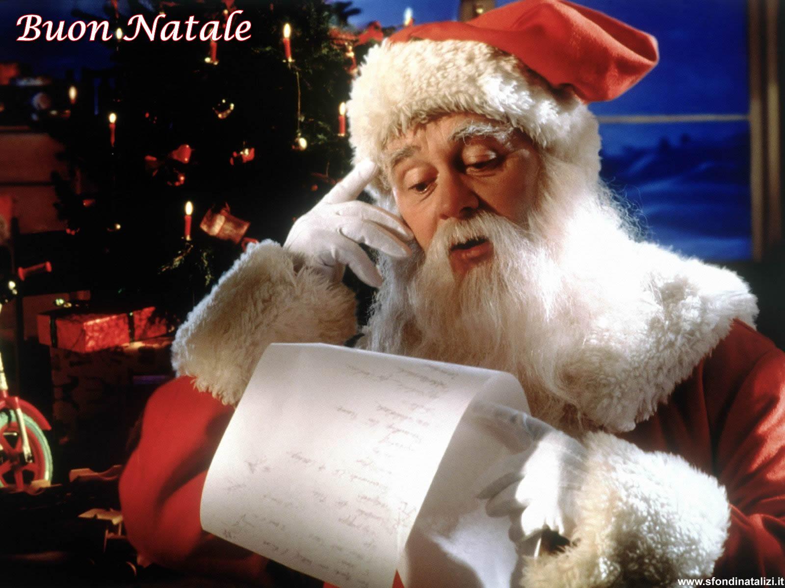 Sfondo Natalizio - Sfondo Babbo Natale con letterina
