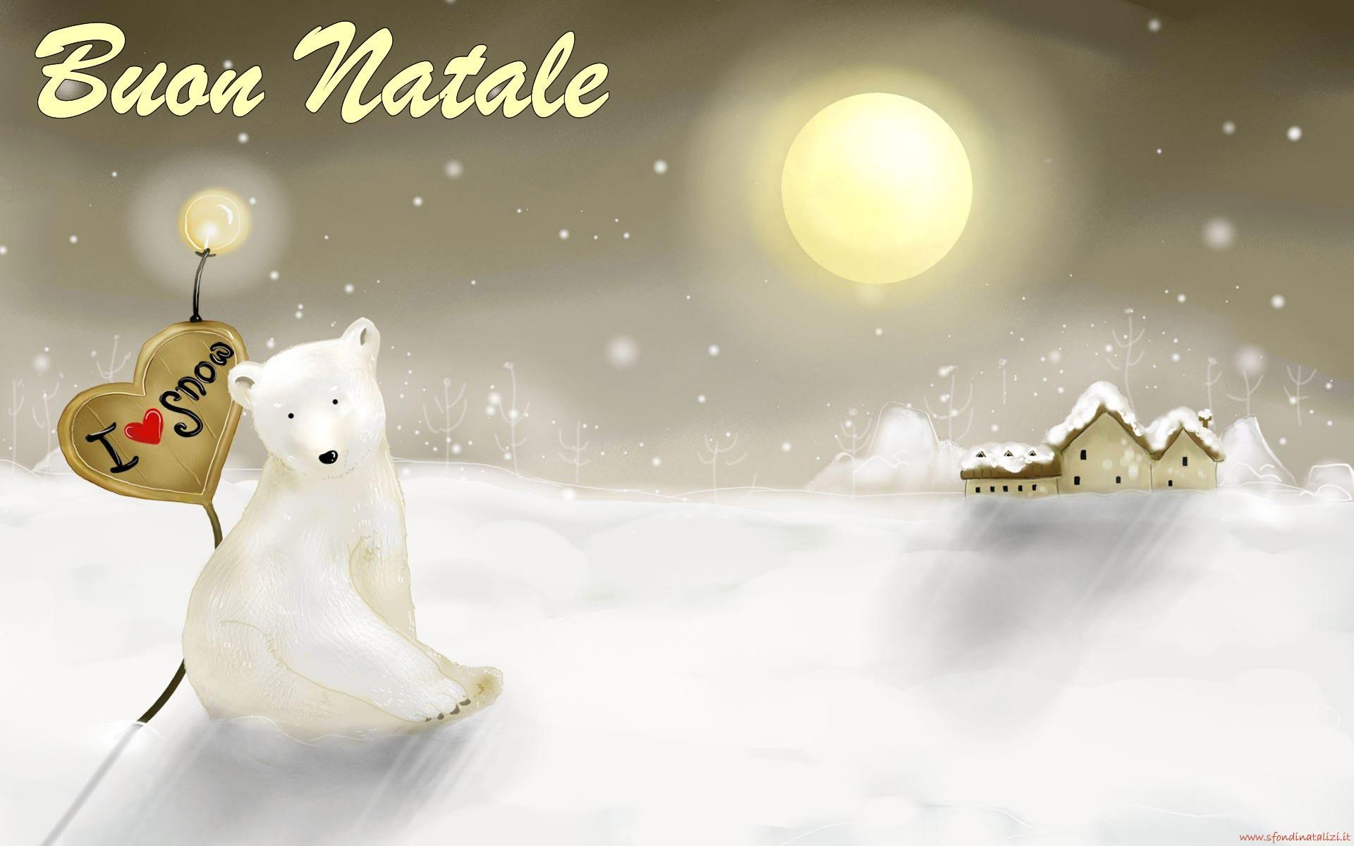 Sfondo Natalizio - Sfondo desktop natalizio Orso