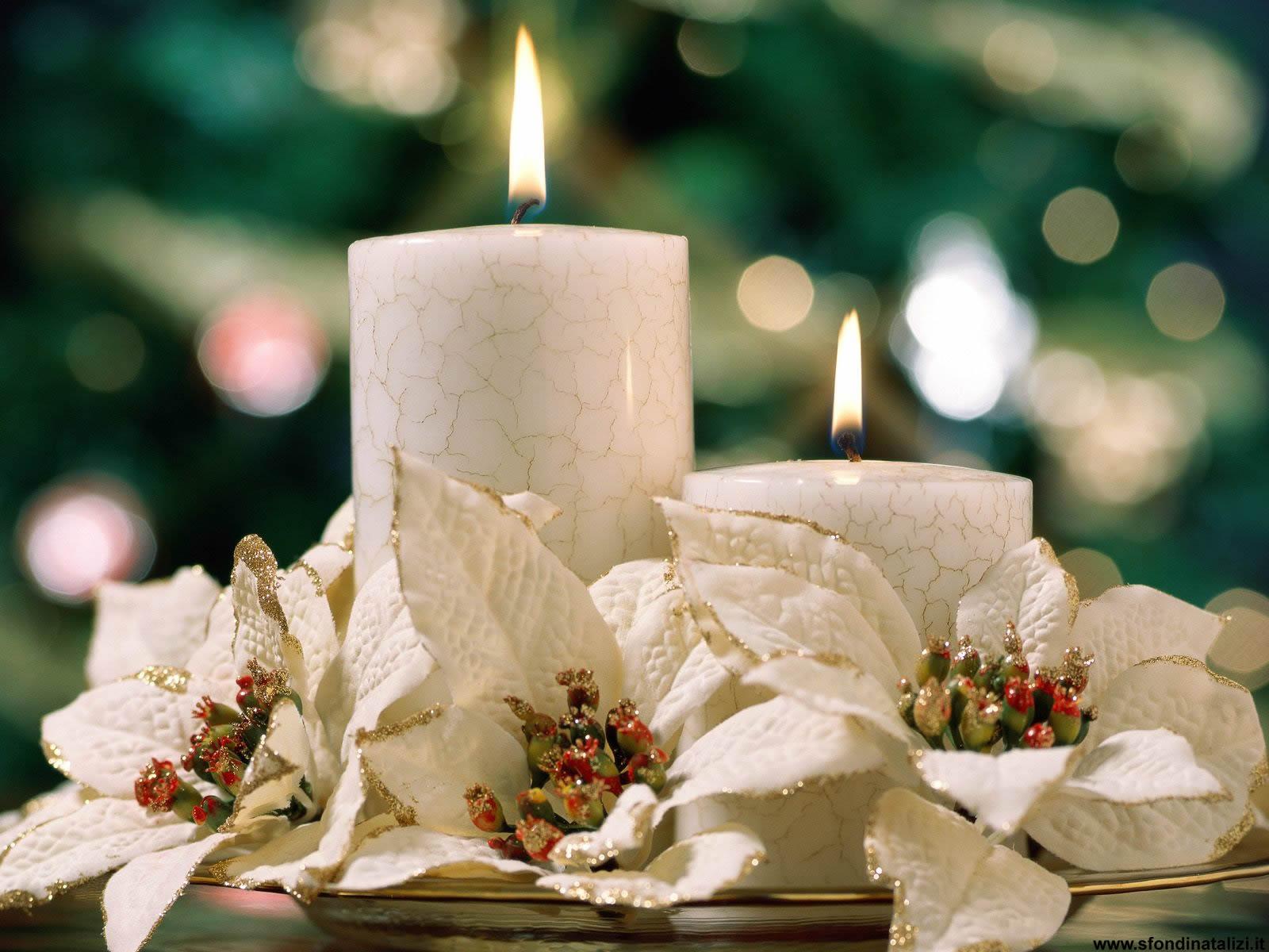 Sfondo Natalizio - Candela natalizia