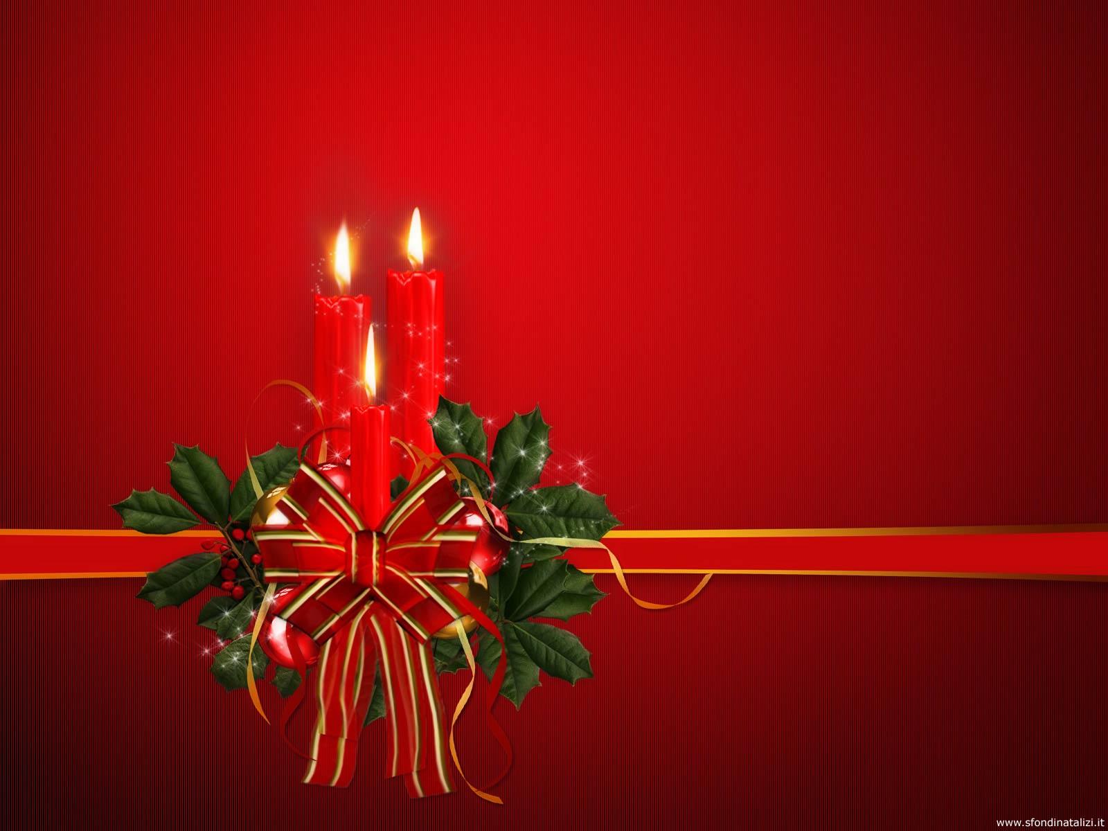 Sfondo Natalizio - Sfondo natalizio Candele accese