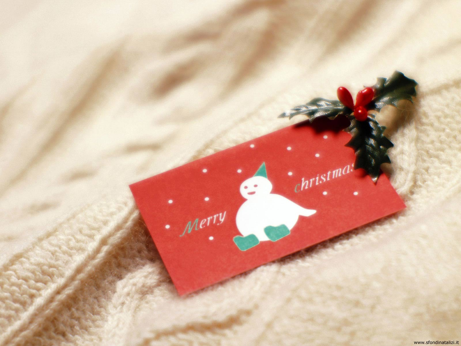 Sfondo Natalizio - Sfondo desktop natalizio Targhetta
