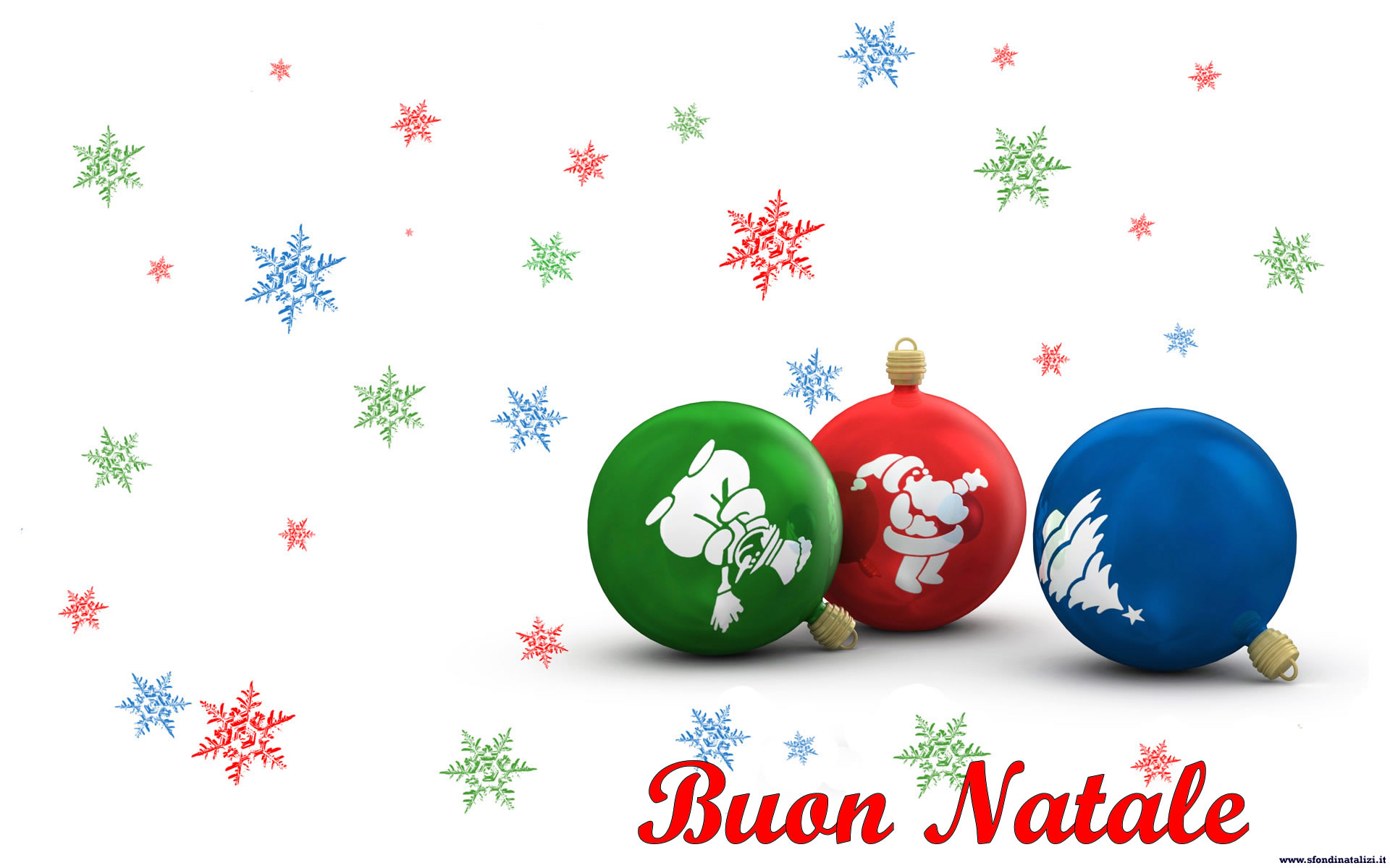 Sfondo Natalizio - Sfondo palline Natale