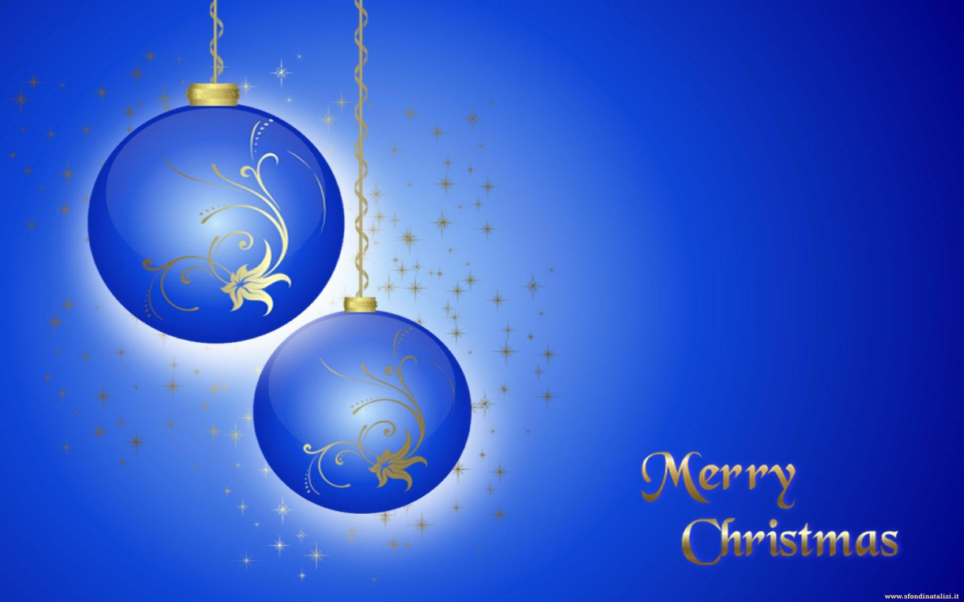 Sfondo Natalizio - Palline di Natale blu