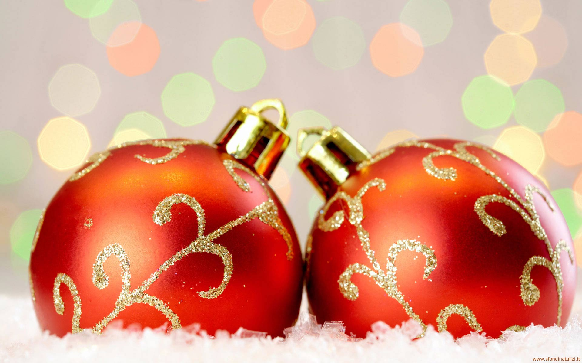 Sfondo Natalizio - Sfondo natalizio palline