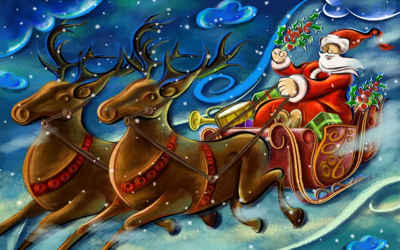 Sfondo Natalizio - Babbo Natale