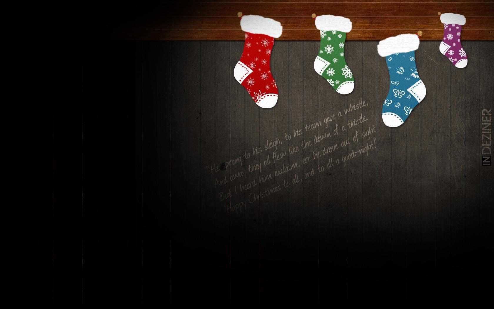 Sfondo Natalizio - Sfondo natalizio calze Natale