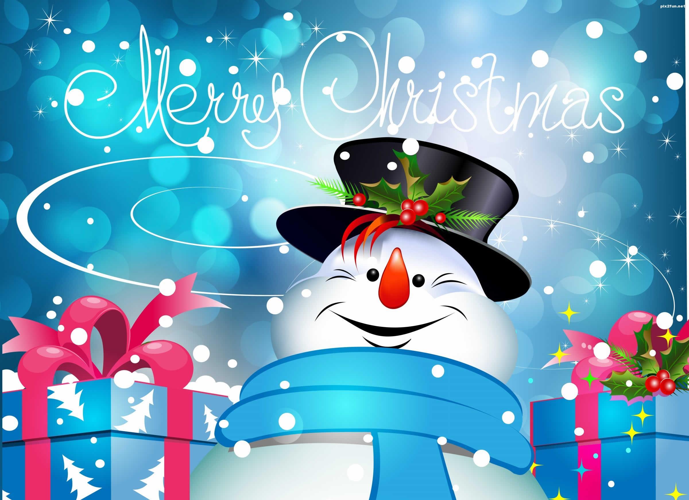 Sfondo Natalizio - Immagine natalizia pupazzo di neve