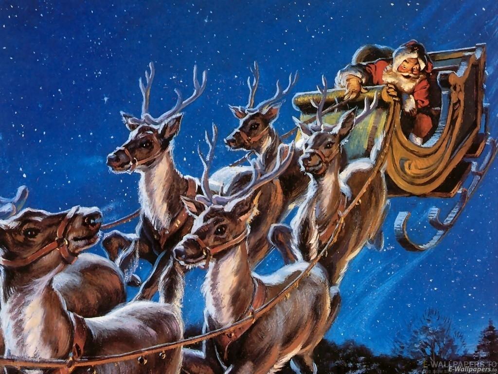Sfondo Natalizio - Sfondo renne di Natale