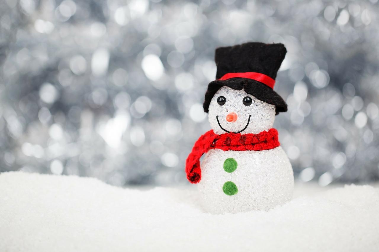 Sfondo Natalizio - Sfondi natalizi gratis pupazzo di neve