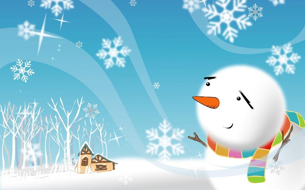 Sfondo Natalizio - Sfondi Natalizi Pupazzo di Neve