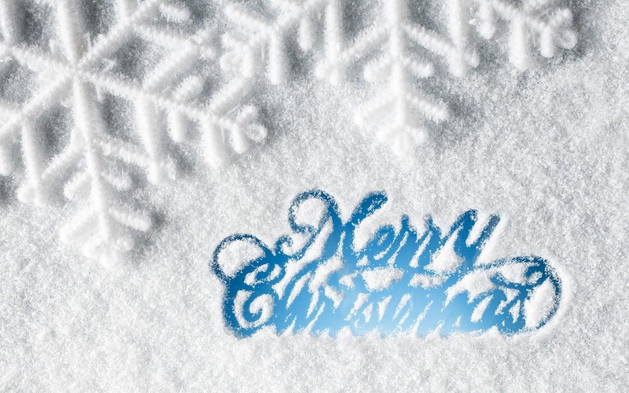 Sfondo Natalizio - Sfondo Merry Christmas ghiaccio