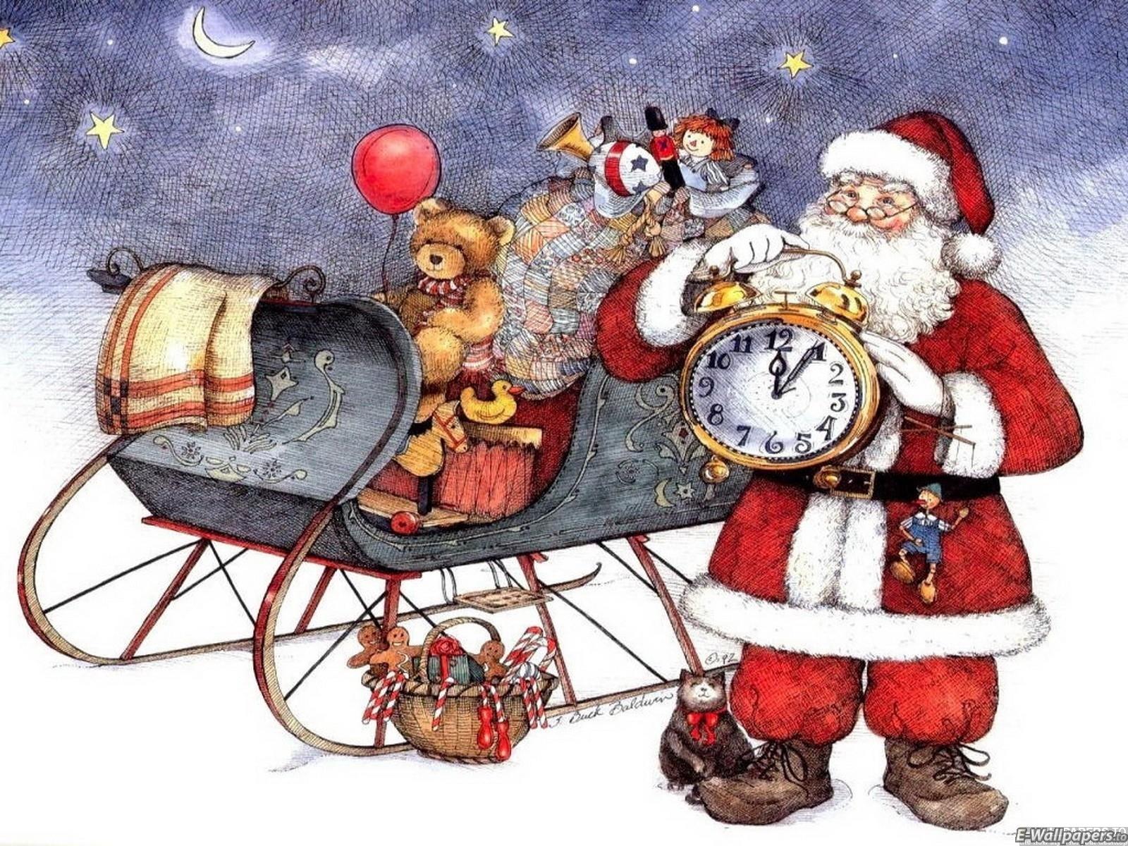 Sfondo Natalizio - Sfondo Natalizio con babbo Natale
